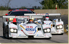 Team ADT Champion Racing´s two Audi R8 prototypes in the 2004 ALMS