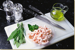 Gamberetti alla Salvia - Ingredients
